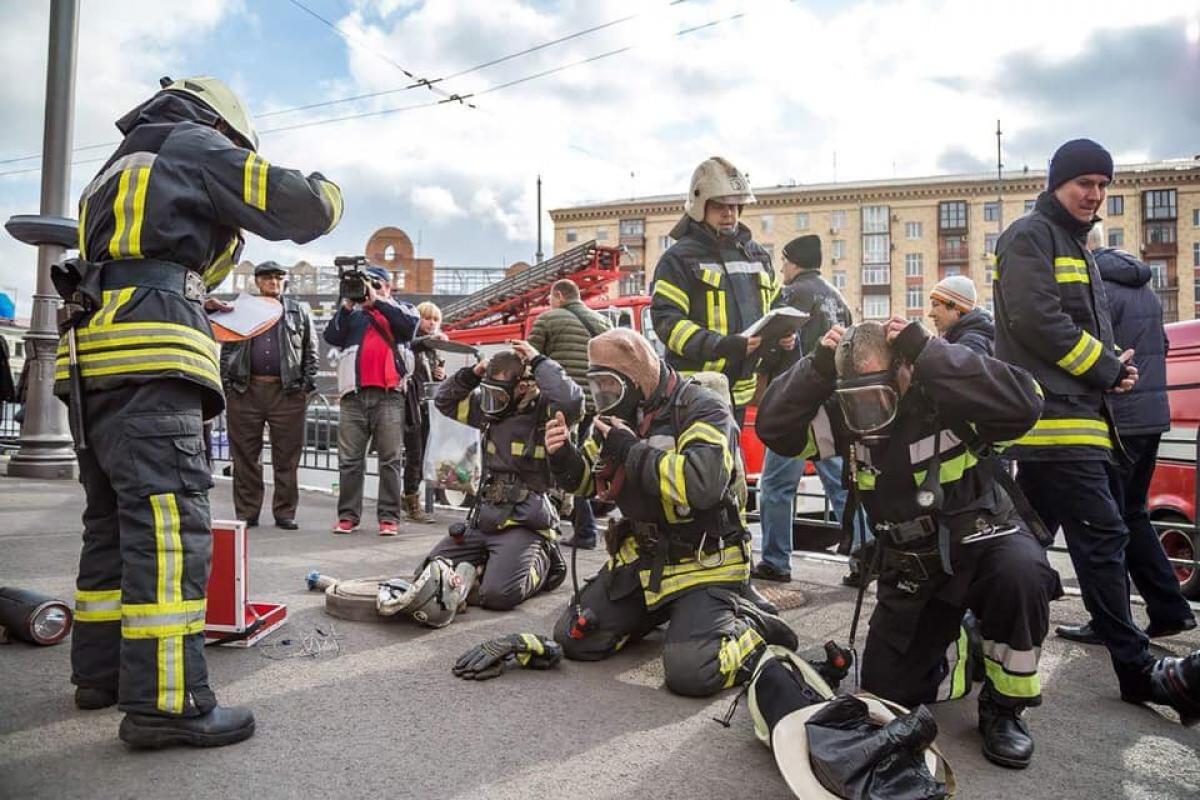 В харьковском БТИ прошли пожарные учения